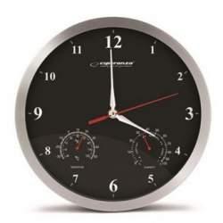 Ceas de perete Esperanza Washington, diametru 30 cm, aluminiu SUA-ESP-EHC008K