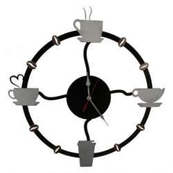Ceas de perete metalic Krodesign Coffee Time, diametru 50 cm SUA-KRO-1017