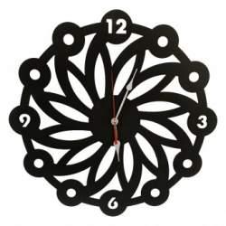 Ceas de perete metalic Krodesign Daisy, diametru 50 cm, negru SUA-KRO-1012