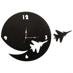 Ceas de perete metalic Krodesign Plane, diametru 50 cm, negru SUA-KRO-1014