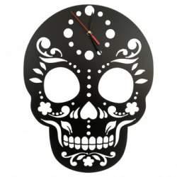 Ceas de perete metalic Krodesign Skull, diametru 45 cm, negru SUA-KRO-1011