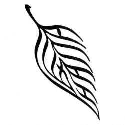 Decoratiune perete Krodesign Leaf, Lungime 100 cm, negru SUA-KRO-1027