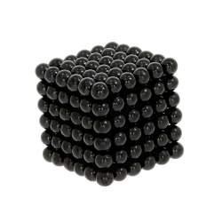 Joc Puzzle Antistres NeoCube cu 216 Bile Magnetice, Diametrul de 3mm, Negru