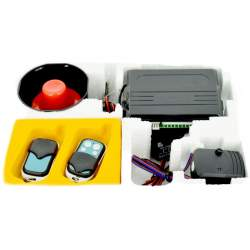 Alarma auto cu telecomanda si sirena, functie pornire, fara pager ART S02 - 063