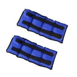 Set 2 greutati fitness pentru maini si picioare, 2x1 kg, culoare albastru
