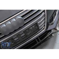 Prelungire Bara Fata Lip Audi A4 B9 8W S-Line (2016-2018) Negru Lucios KTX2-FBSAUA4B9APB