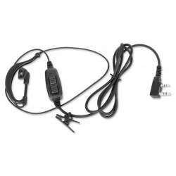 Casti ear-loop Baofeng cu microfon pentru statii radio portabile Baofeng, Wouxun, Puxing, Kenwood MTEK-BFEA02