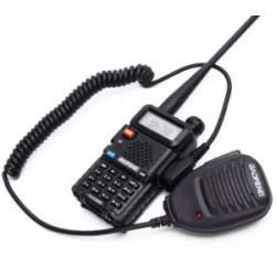 Statie Radio Walkie Talkie Baofeng UV-5R 8 W cu MICROFON exterior MTEK-UV-5RMIC