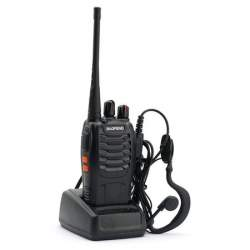 Statie radio portabila emisie receptie PROGRAMATA in banda de licenta libera, Walkie Talkie, Baofeng BF-888S cu casti incluse MTEK-BF888S1C