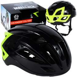 Casca de Protectie pentru bicicleta Maltrack Total Fusion, unisex, marimea M/L, 55-59cm,  negru/verde