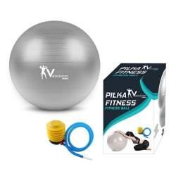 Minge gonflabila pentru Gimnastica, Fitness sau Recuperare, cu pompa inclusa, diametru 85cm, gri