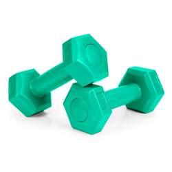 Set 2 Gantere pentru fitness sau antrenament, din cauciuc, 2x0.5 kg, culoare verde
