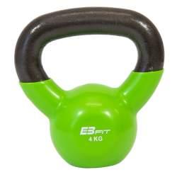 Gantera Kettlebell cu maner EB Fit, greutate 4 kg, culoare Verde