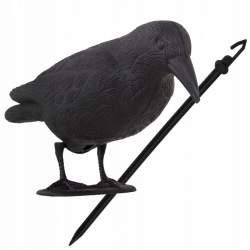 Corb Cioara Artificiala Decorativa, Sperietoare de Porumbei, pentru Alungarea Pasarilor Nedorite, 39x11x18.5 cm, negru