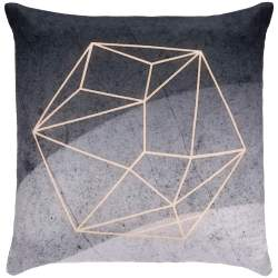 Fata de Perna Decorativa Springos, design abstract, dimensiune 40x40, culoare gri