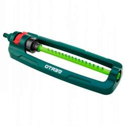 Aspersor oscilant reglabil pentru gazon curte sau gradina, cu 16 duze, acoperire 336 mp, verde