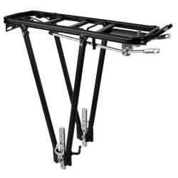 Portbagaj de bicicleta universal din aluminiu, reglabil, capacitate 35kg, negru