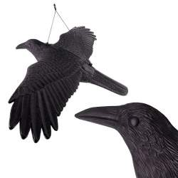 Corb Cioara Artificiala Decorativa cu Aripi Intinse, pentru Alungarea Porumbeilor sau a Altor Pasari Nedorite, 80x44x12cm ZLT20-KRUK