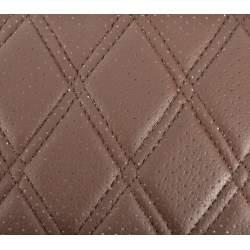 Material ROMB cu gaurele  maro /cusatura maro COD: Y02MM MRA36-070621-47