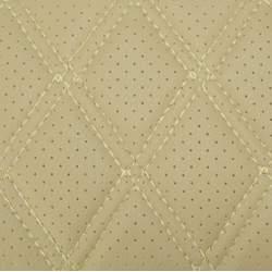 Material ROMB cu gaurele bej /cusatura bej COD: Y02BB MRA36-070621-46