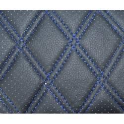 Material ROMB cu gaurele negru/cusatura albastra COD: Y02NA MRA36-070621-42