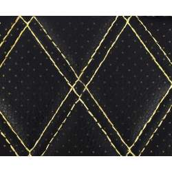Material ROMB cu gaurele negru/cusatura bej COD: Y02NB MRA36-070621-45