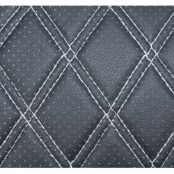 Material ROMB cu gaurele negru/cusatura gri COD: Y02NG MRA36-070621-43