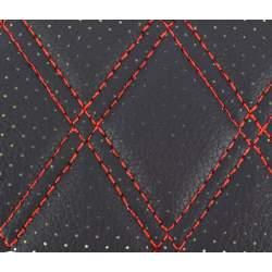 Material ROMB cu gaurele negru/cusatura rosie COD: Y02NR MRA36-070621-41