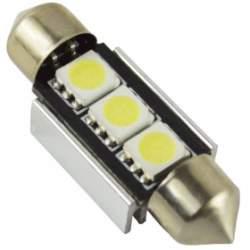 20 X Bec auto LED SOFIT 11X39  5050 cu 3 SMD ALB 12V CANBUS JSUN41 ( pret / 20 buc ) MRA36-090221-10
