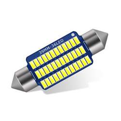 Bec auto LED SOFIT 11X36  3014 cu 30 SMD ALB 12V CANBUS JSUN24 ( pret pe set ) MRA36-170221-4