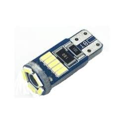Bec auto LED T10 4014 cu 15 SMD ALB 12V CANBUS JSUN44 MRA36-090221-19