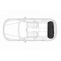 Covor portbagaj tavita Opel Astra K 2015-> cu roata de rezerva hatchback PB 6857 PBA1 MRA36-020321-13