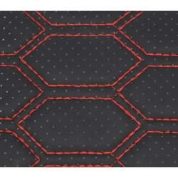 Material hexagon cu gaurele  negru/cusatura rosie COD: Y03NR MRA36-040621-58