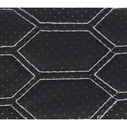 Material hexagon cu gaurele negru/cusatura gri COD: Y03NG MRA36-040621-59