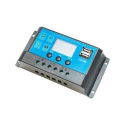 Regulator tensiune pentru panou solar 10A 12V/24V 2X port USB BK87454 MRA36-180221-13