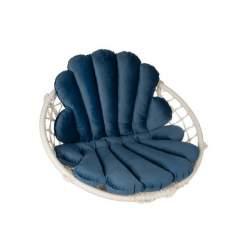 Perna moale din catifea pentru leagan balansoar suspendat de gradina, dimensiune 80x55 cm, bleumarin MXY56-16752
