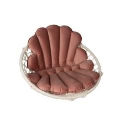 Perna moale din catifea pentru leagan balansoar suspendat de gradina, dimensiune 80x55 cm, roz MXY56-16753
