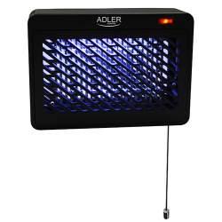 Aparat Insectocutor Adler Lampa UV Anti-Insecte si Muste, Acoperire 30mp, Putere 9W, negru