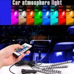 Lumini UnderCar LED - RGB pentru interior sau exterior cu telecomanda - 22cm