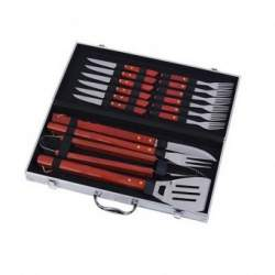 Set ustensile pentru gratar Strend Pro Premium BBQ 45535, cutie metalica, Inox, 16 piese SUA-SK-2212061