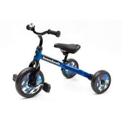 Bicicleta pentru copii Bauerkraft 3in1, cu/fara pedale, cadru metalic, capacitate 25kg, Albastru