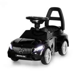 Masinuta Mercedes GLE 65 AMG, volan interactiv cu melodii, faruri LED, capacitate 25kg, culoare negru