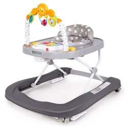 Premergator Rotobil EcoToys Pliabil pentru Copii, Inaltime reglabila, cu Centru de Joaca, gri