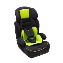 Scaun Auto pentru Copii 9-36 kg, cu Protectie laterala si Tetiera reglabila, fixare centura in 3 puncte, Negru/Verde