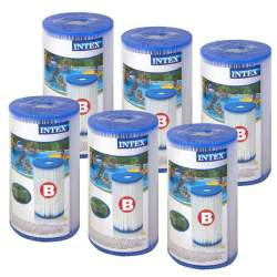 Set Filtre Intex Tip B pentru Pompa de Piscina, 25.5x14.5 cm, 6 buc