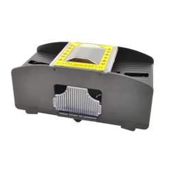 Aparat automat pentru amestecat carti de joc, functionare pe baterii, 20.5x10 cm, negru
