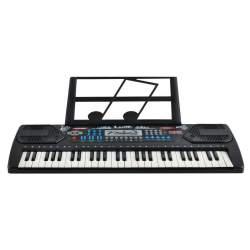 Orga electronica pentru Copii, cu microfon, efecte sonore si melodii, 54 clape, negru
