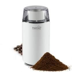 Rasnita electrica de cafea, Home HG KD 40, putere 150W, 40 g, 2 lame inoxidabile, alb SUA-SO-HG KD 40