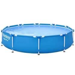 Piscina Bestway pentru copii rotunda cu strat Triplu PVC, pompa de apa inclusa, cadru otel, 305x76cm, capacitate 4678L