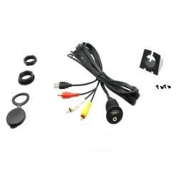 CT29AX19 Cablaj universal 3.5mm Aux and USB Socket to RCA/USB MEDO-CT29AX19